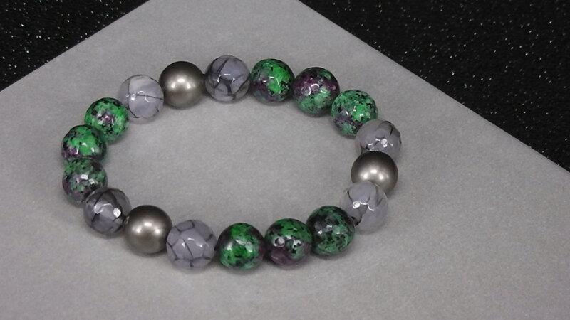 náramok rubín v zoisite šperky z polodrahokamov liečivé šperky drahé ... 553918863ea